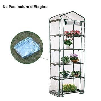 awhao Serre de Jardin Bâche PVC Transparente pour Étagère Balcon ...