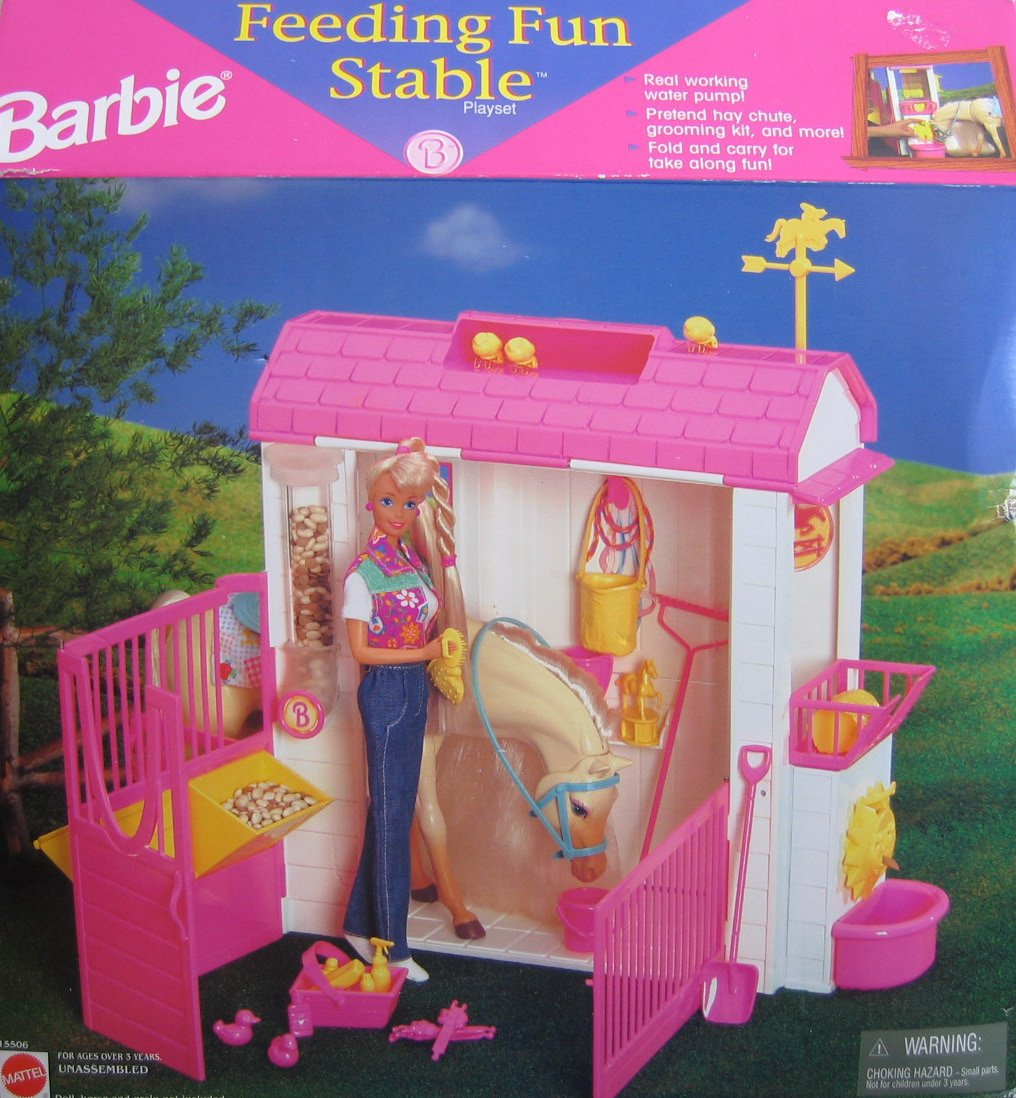 Barbie Coffret De Jeu Poup 233 E Barbie Ranch Et Cheval Dmr52