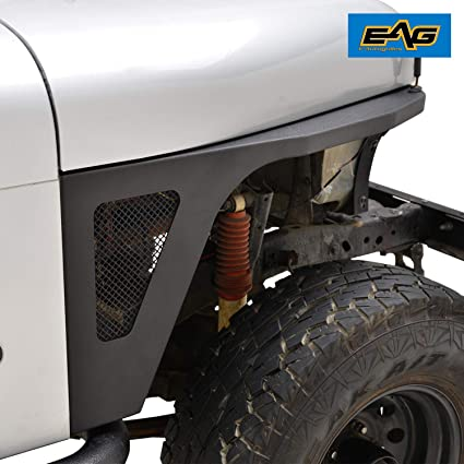 Amazon com: EAG CJ Armor Front Fender with LED Eagle Lights