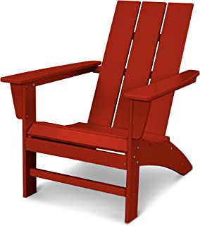 product image for POLYWOOD AD420CR Modern Adirondack Chair, Crimson Red