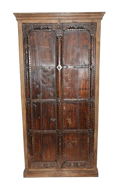 Amazon.com: Armario antiguo primitivo Armoire rústico gótico ...