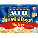 ACT II Popcorn, 100 Calorie Pack, Butter, 8-Count Mini-Bags (Pack of 6)