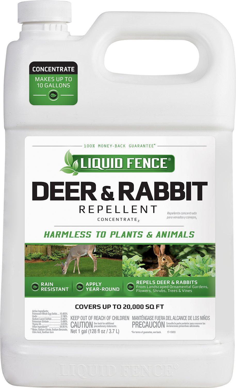 Liquid Fence Deer & Rabbit Repellent Concentrate, 1-Gallon by Liquid Fence