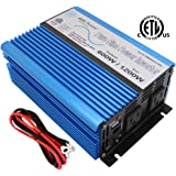 AIMS Power 600 Watt 12 VDC Pure Sine Car Power Inverter with Cables USB Port