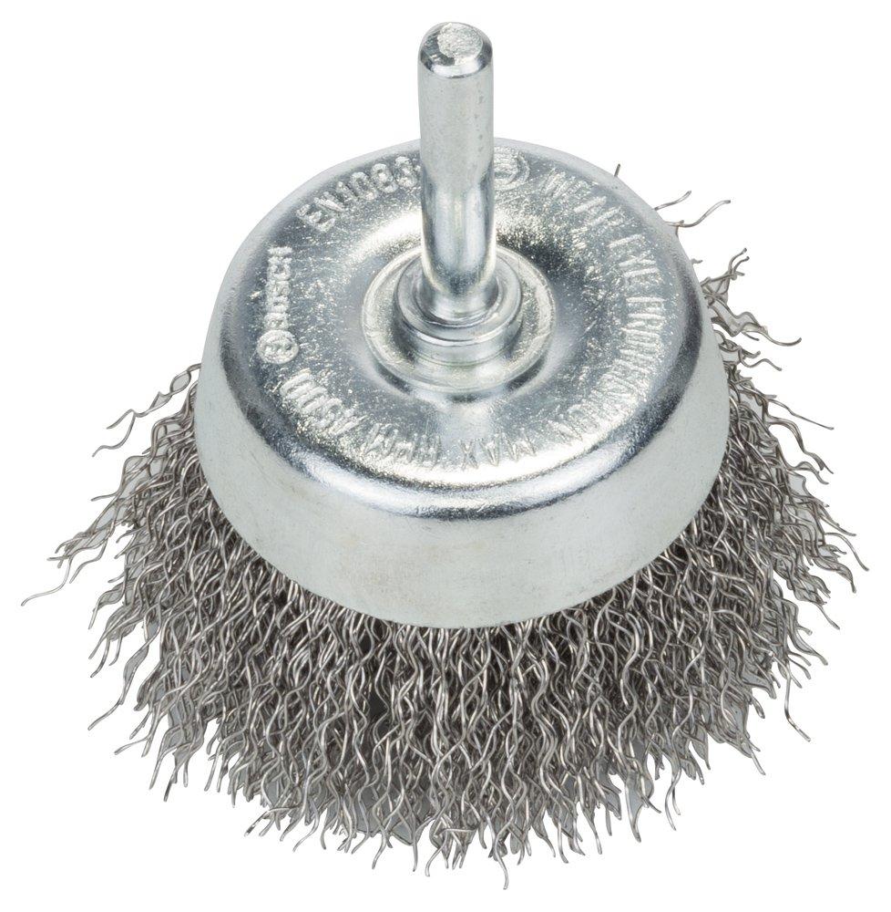 BOSCH Topfbü rste, Edelstahl, gewellter Draht, 0,3 mm, 60 mm, 4500 U/min, 2608622118