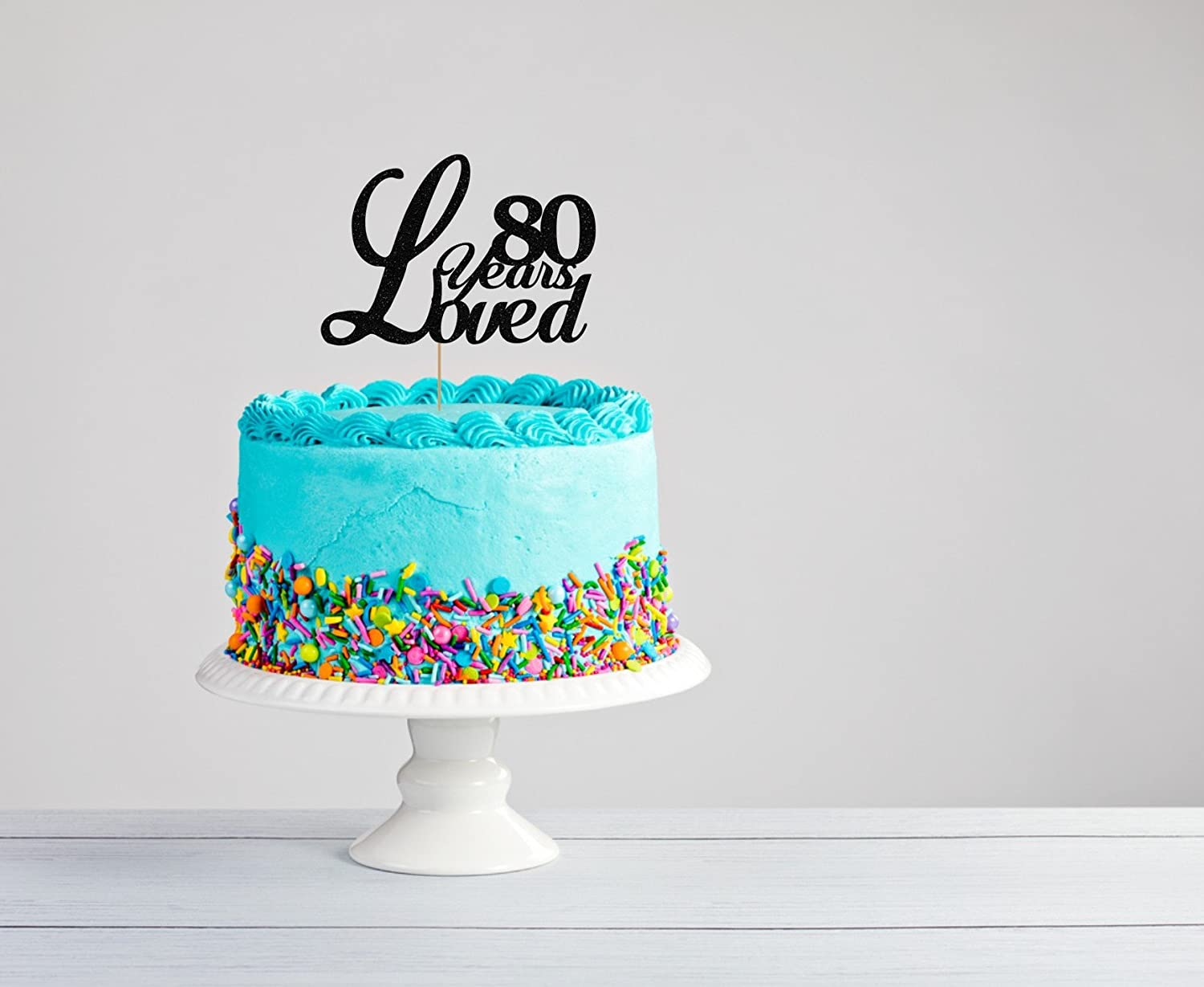 Amazon Eightieth Birthday Cake Topper 80th EightiethTopper Party Eighty Years Loved Surprise