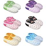 YOHOOLYO Baby Socks 6 Pairs Anti Skid Slip Socks Grip Socks for Toddlers 10-36 Months Toddler and Infants Girl Beige