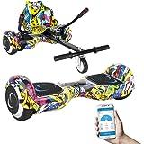 """SmartGyro X2 UL + GO KART PACK STREET - Patín eléctrico X2 UL ( Hoverboard 6'5"""" con Ruedas Run-Flat) y Accesorio Go Kart Pro (Sillin adaptable), color multicolor"""