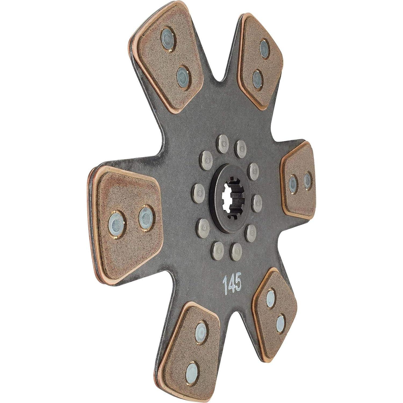 Ace Mfg 10-1//2 In Metallic Clutch Disc 1-1//8 In 10-Spline Solid Hub