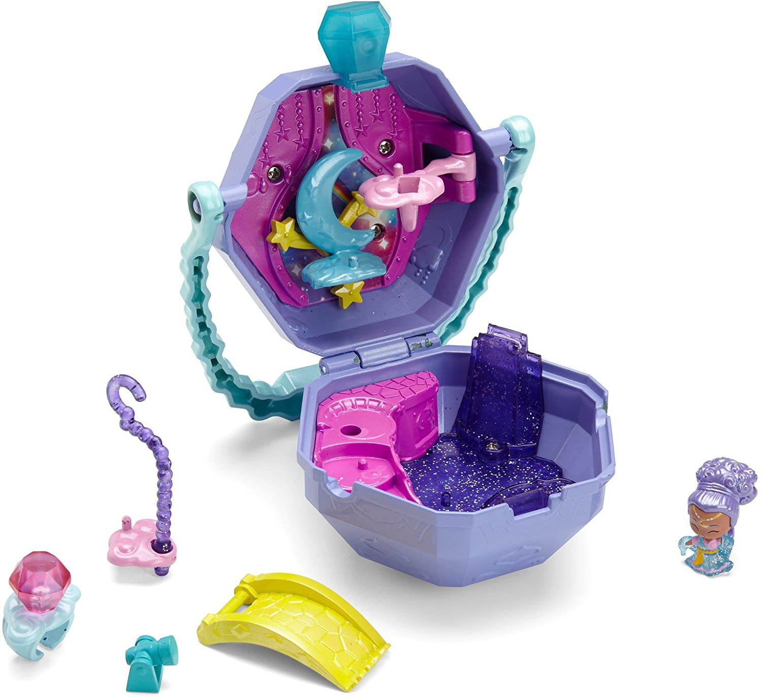 Fisher-Price Nickelodeon Shimmer & Shine, Teenie Genies, Dream Genie's Palace On-The-Go Playset Mattel FPW01