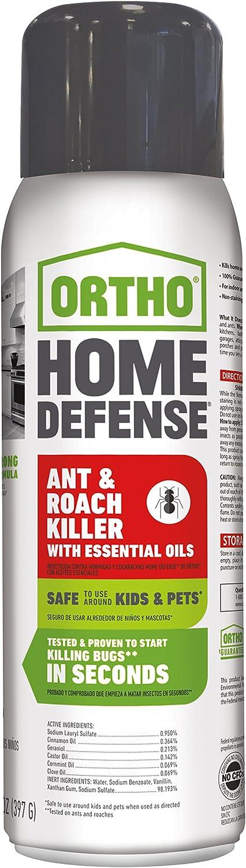 Ortho Home Defense Ant & Roach Killer with Essential Oils Aerosol 14 OZ