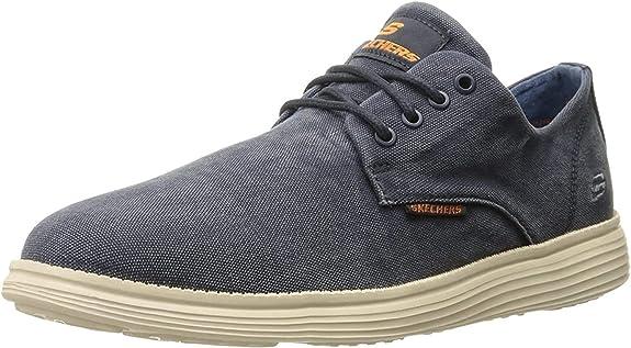 Skechers Herren Status Borges Sneakers, Schwarz: