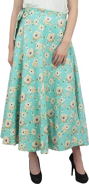 Phagun Reversible Larga Falda del Abrigo de algodón con Estampado ...