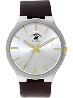 Beverly Hills Polo Club Black Leather Watch (Model:53083)