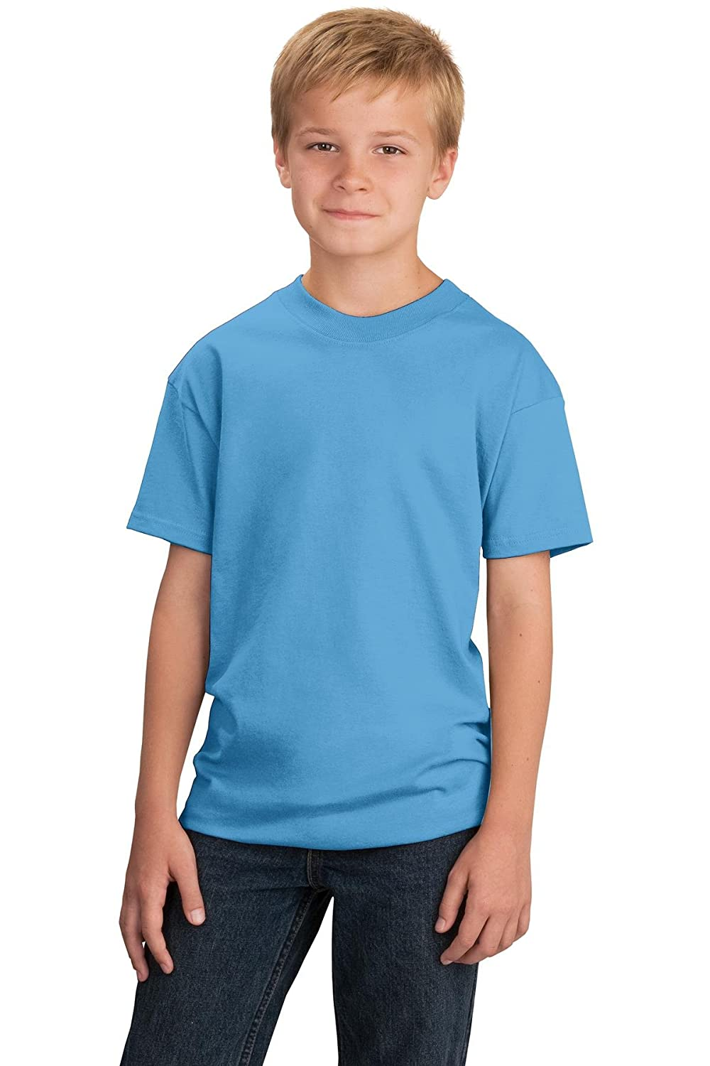 db4a14f43382 Style #: PC54Y An indispensable t-shirt in our classic silhouette&mdashwith  a very friendly price. 5.4-ounce 100% cotton Tag-free label Coverseamed  neck 1x1 ...