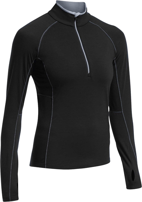Icebreaker Merino Womens 260 Zone Merino Wool Base Layer Long Sleeve Half Zip