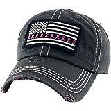 Funky Junque Women/'s Breast Cancer Awareness Pink Ribbon Logo Hope Shredded Baseball Hat Cap