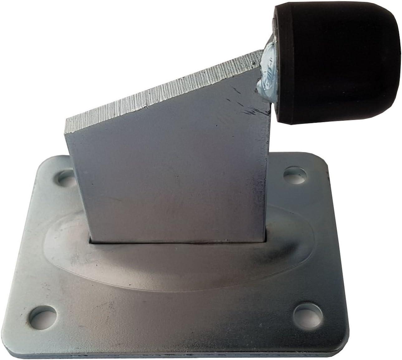 SO-TOOLS/® Torstopper H/öhe 118 mm verzinkt mit Ankerplatte 130 x 100 mm T/ürstopper f/ür Rolltore und schwere T/üren