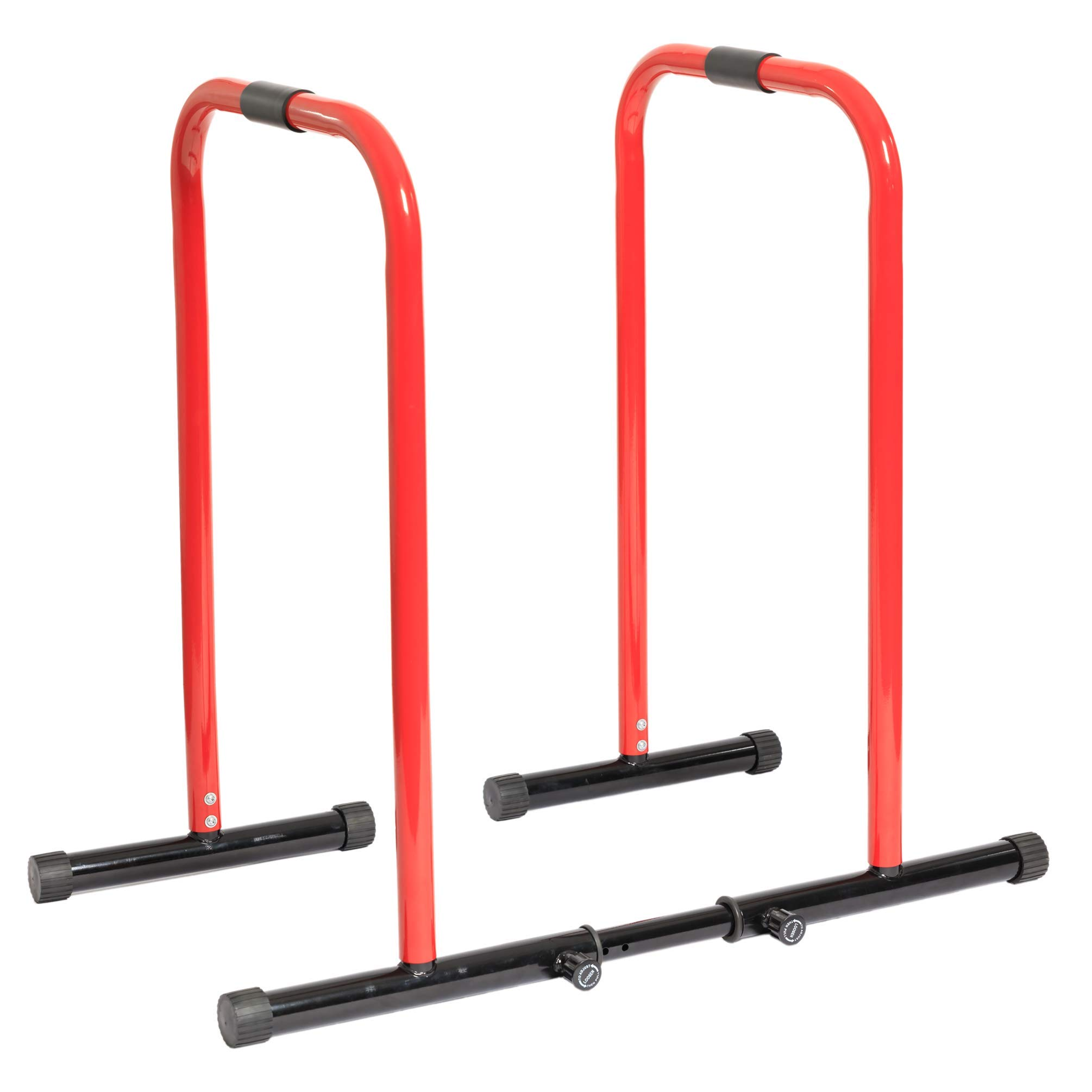 GoBeast Dip Stand with Stability Bar, Adjustable Height and Width, Easy Release Locking Pin, Max User Weight 330lbs / 150kg