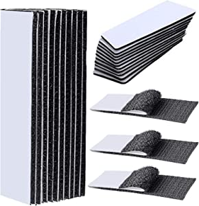 30PCS Hook and Loop Tape with Adhesive, Cushion Gripper Keep Couch Cushions from Sliding Couch pad, 15 Pairs Couch Cushion Non Slip Pads Couch Cushion from Sliding Non Slip Furniture Pads 1x7 Inch