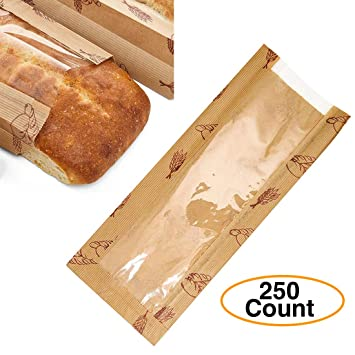 Image Unavailable. Image not available for. Color: Bread | Loaf Kraft Brown Paper Bags ...