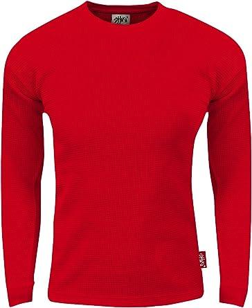 Shaka Wear Camisa térmica de manga larga con cuello redondo para hombre