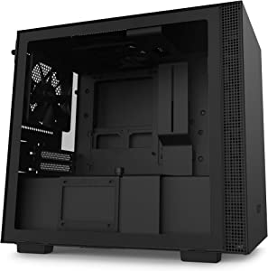 NZXT H210 - CA-H210B-B1 - Mini-ITX PC Gaming Case - Front I/O USB Type-C Port - Tempered Glass Side Panel - Cable Management System - Water-Cooling Ready - Black