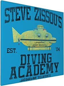 1007 Canvas Prints Wall Art Paintings(20x20in) Life Aquatic Steve Zissous Submarine Driving Academy Pictures Home Office Decor Framed Posters & Prints