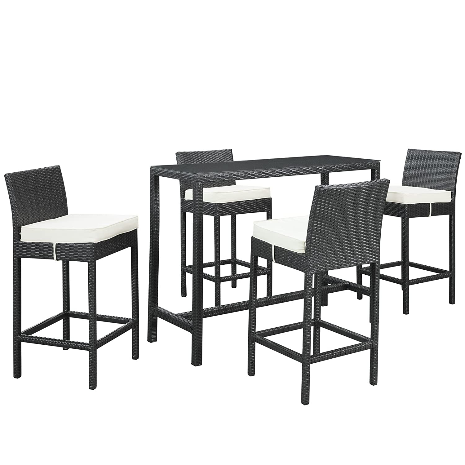 Amazon Portland 5 Piece Outdoor Patio Pub Set Garden & Outdoor