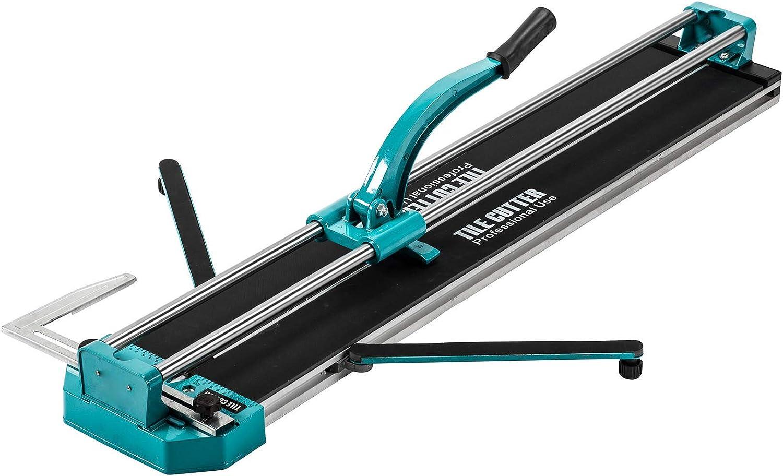 Sfeomi Cortador de Azulejos Manual 1000 mm Cortadora de Azulejos Profesional Cortador de Azulejos de Cerámica con Guía Láser Ajustable para Corte de Precisión (1000mm)
