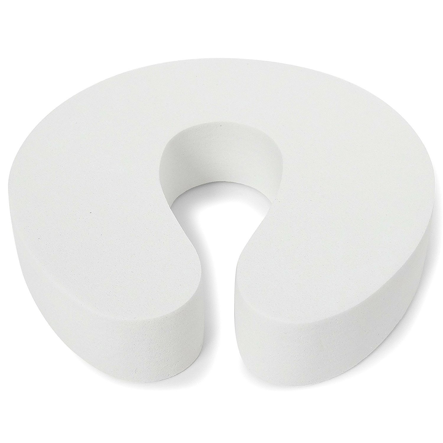 Deblan Safety Foam Door Stopper, Finger Pinch Guard for Child Proofing, Pack of 5, White