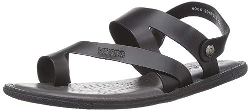 mens black leather sandals uk