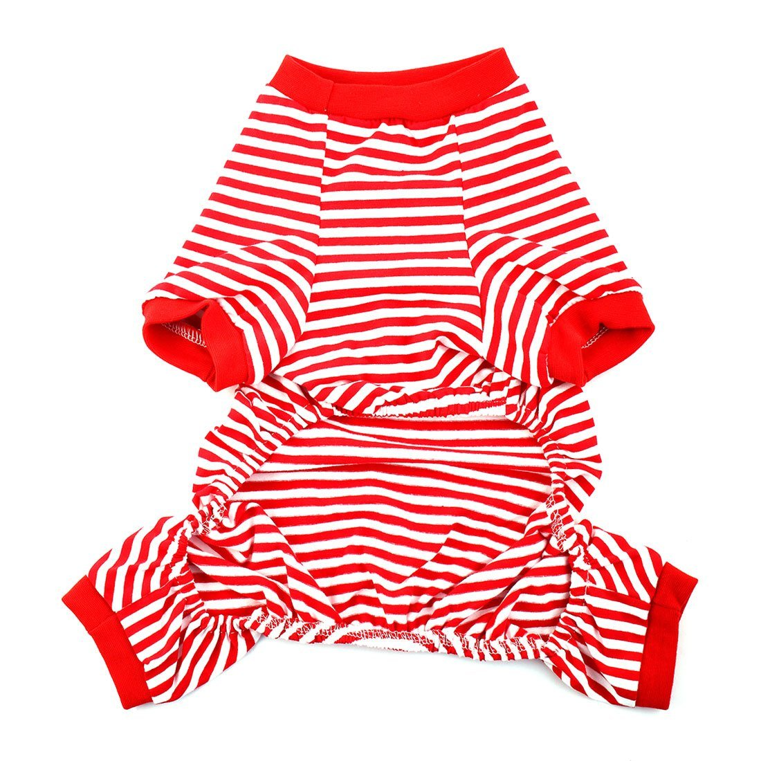 Amazon.com : Padrão DealMux Anchor leme Bordado Pet Puppy Dog Stripe Dormir Vestidos Roupa Pijama Jumpsuit Tamanho L : Pet Supplies