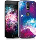 kwmobile Case for Motorola Moto G4 / Moto G4 Plus - TPU Silicone Crystal Clear Back Case Protective Cover IMD Design…