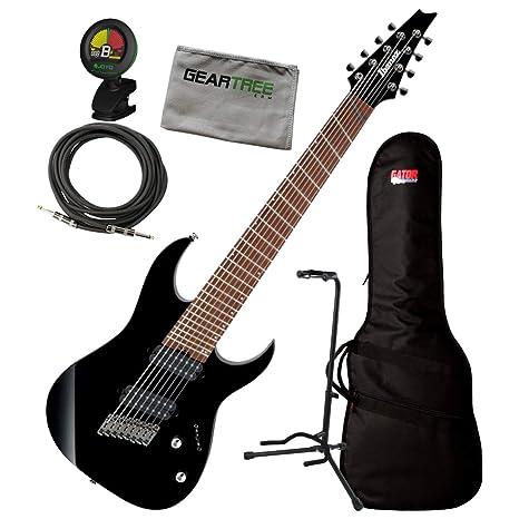 Ibanez RGMS8 BK RG - Guitarra eléctrica de 8 cuerdas con bolsa ...