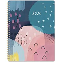 """2020 Planner - Weekly & Monthly with Twin-Wire Binding. 8.5"""" x 11"""", Thick Paper to Achieve Your Goals, January 2020 - December 2020, Flexible Cover Whit Printed Monthly Tabs"""