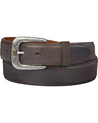 051283aa6 Lucchese Men's Straight Chocolate Burnished Goat Belt at Amazon Men's  Clothing store: