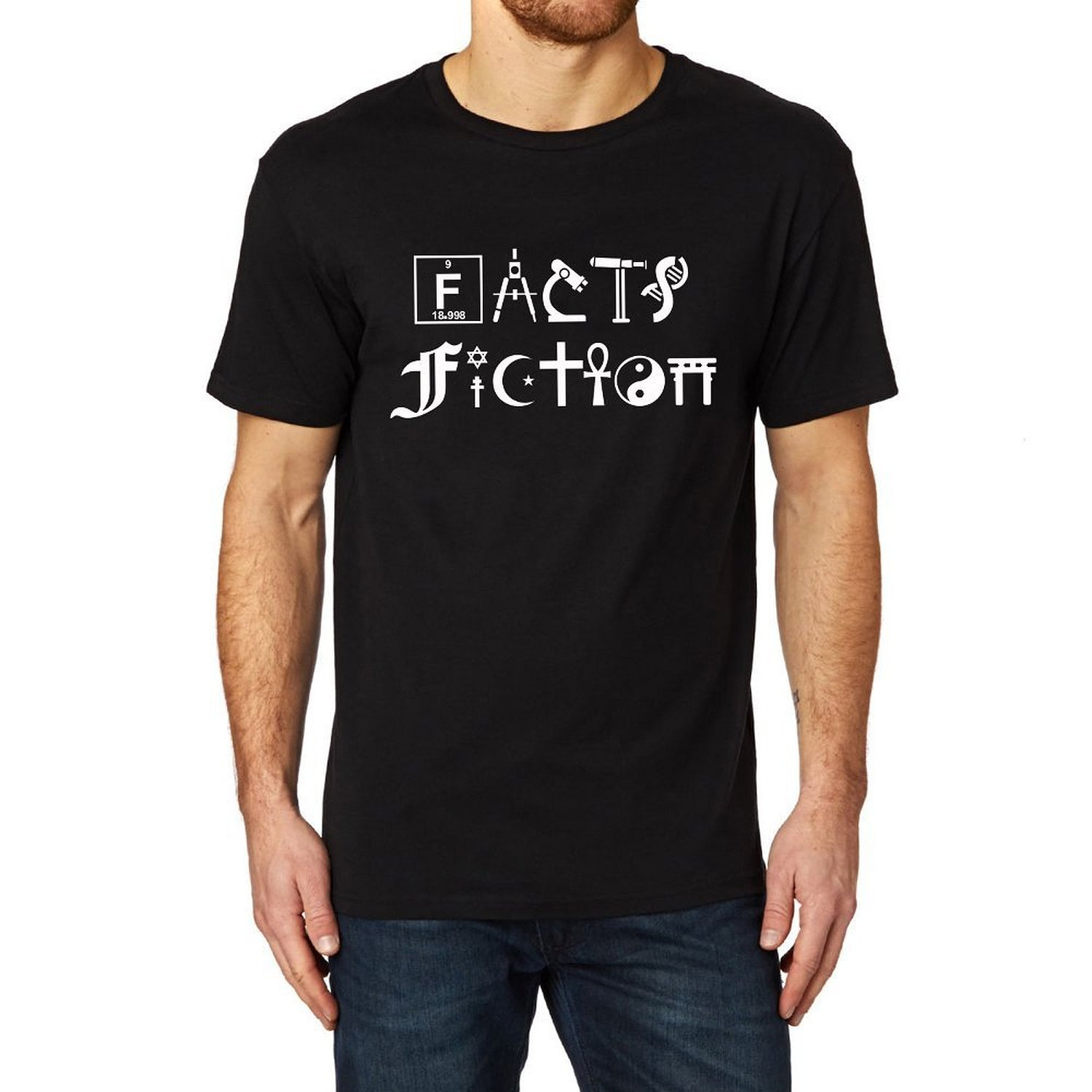 Loo Show S Facts Fiction Science Black T Shirt Tee