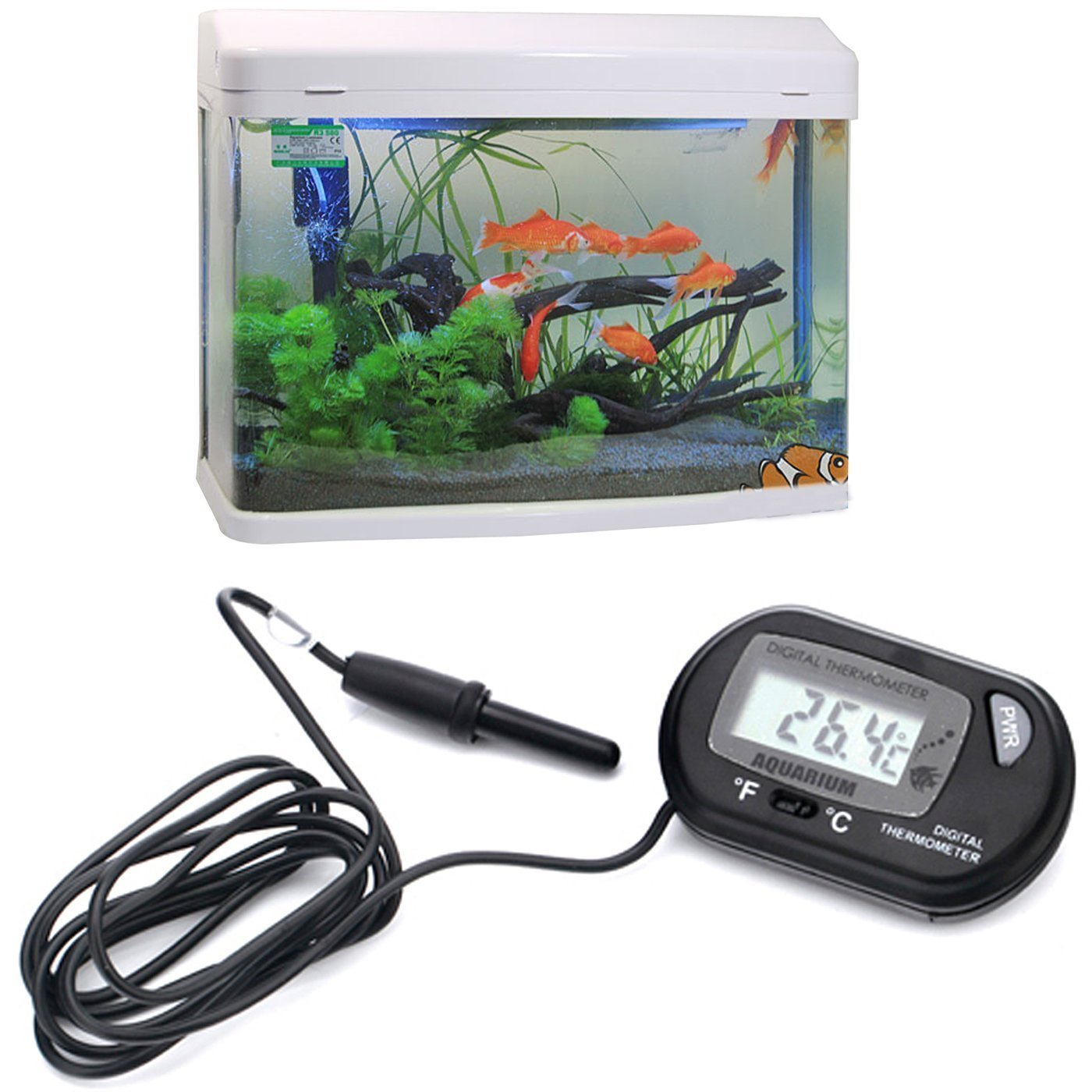 Marine control de temperature Thermostat pour Digital leau daquarium Thermometre