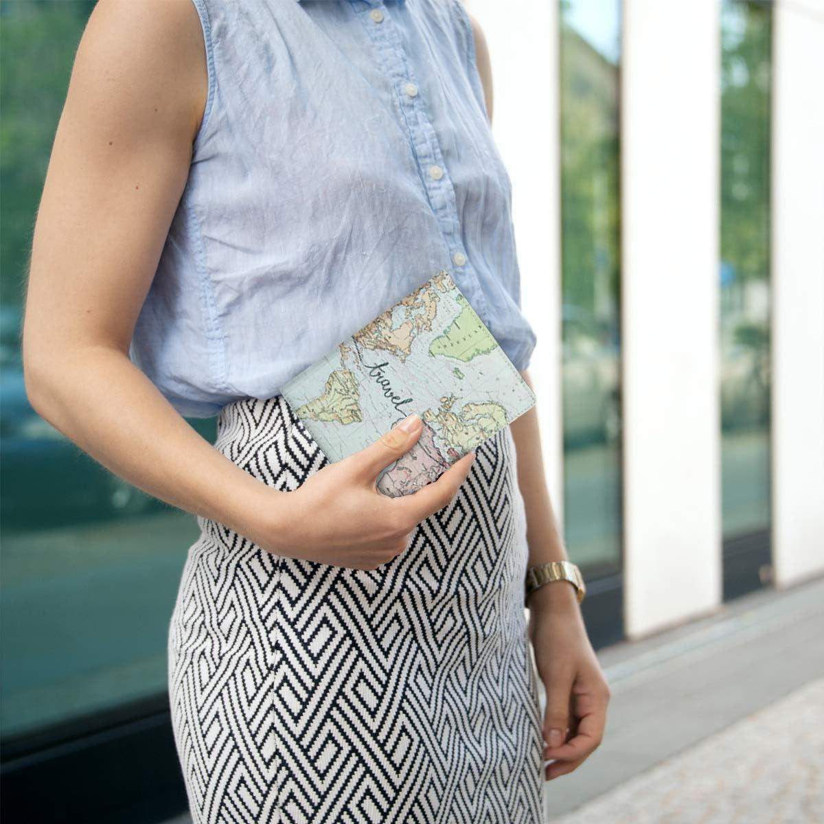 Portefeuille Passeport kwmobile Porte-Passeport avec Compartiments Cartes /Étui de Protection Simili Cuir Rose Clair-Violet-Corail avec Emplacement Carte Bleue