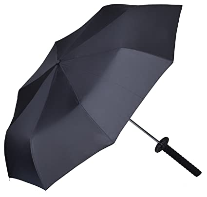 "Paraguas en el diseño ""Espada Ninja"" - Negro 90 cm de diámetro -"