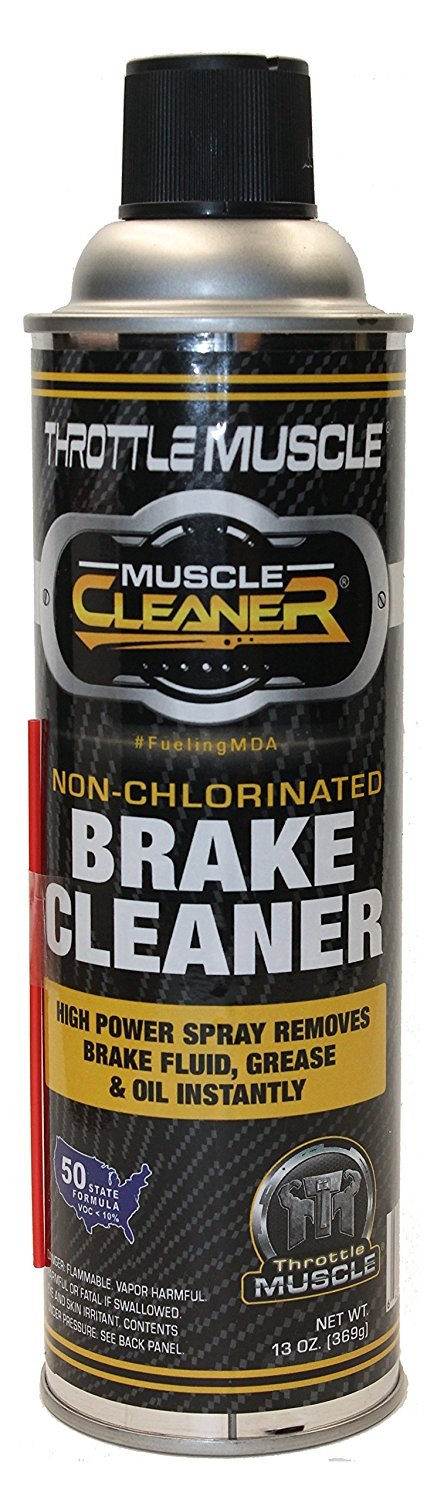 Throttle Muscle TM8487-C - Brake Parts Cleaner 50 State Compliant Non-Chlorinated 13 Oz Case of 12 by Throttle Muscle