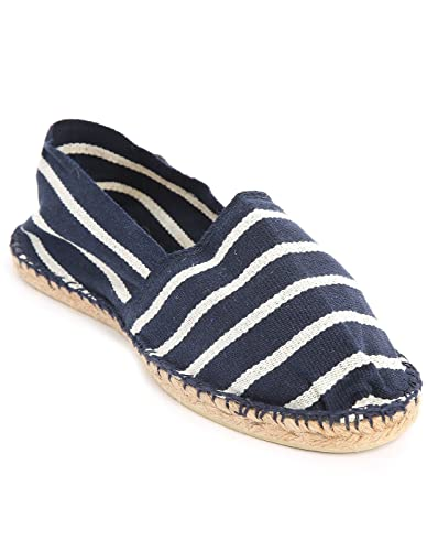 9c46a469fe4 Blue and white striped espadrilles  Amazon.co.uk  Clothing