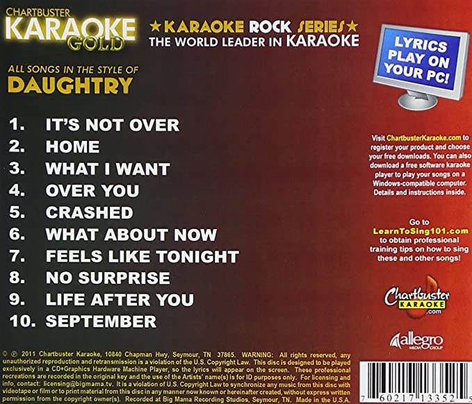 Buy Karaoke Gold: Songs in the Style of Daughtry Online at