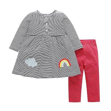 6557261deda83 YASSON Ensembles de Vêtement Bébé Fille Blouse Pantalon Tenues Automne Hiver  Confortable Gris Label 6M