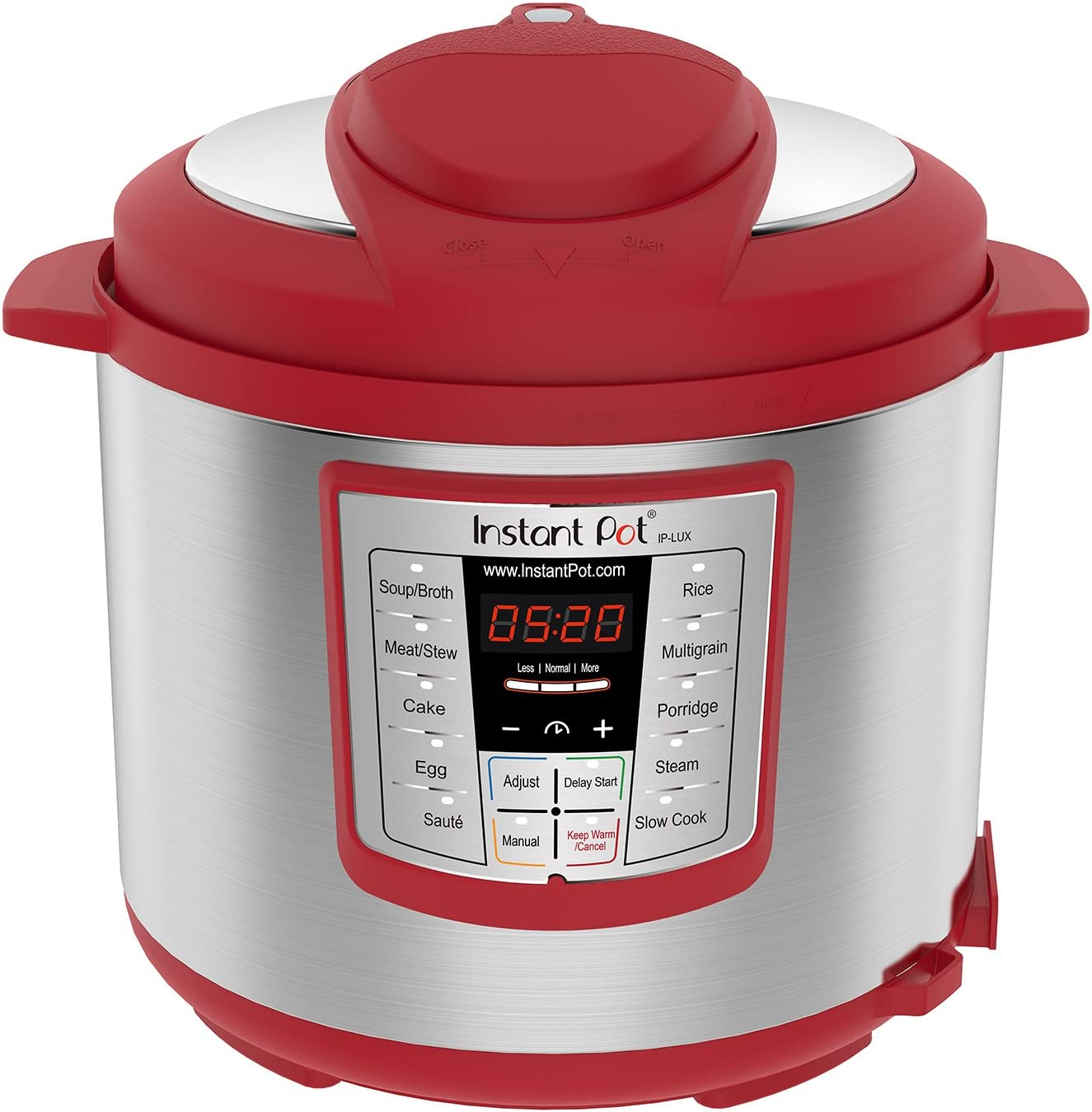Instant Pot Lux 6 Qt Red 6 in 1 Muti Use Programmable Pressure Cooker, Slow Cooker, Rice Cooker, Saut , Steamer, and Warmer