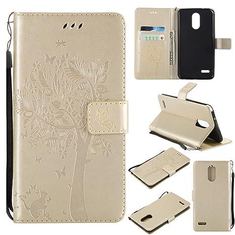 Amazon.com: Funda para LG Stylus 3 Plus, [cartera] Premium ...