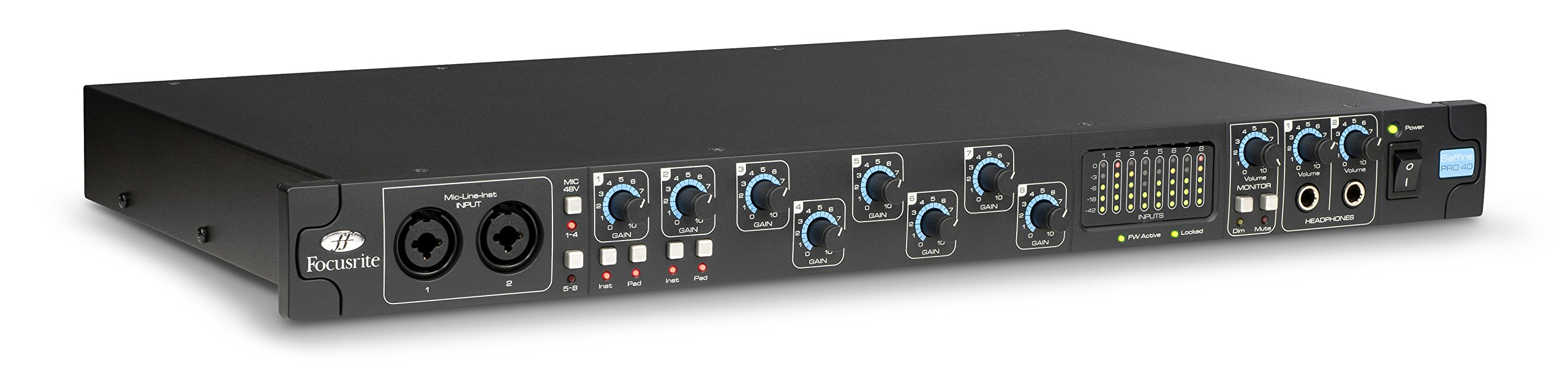 Focusrite Saffire Pro 40 Professional 20 In/20 Out Firewire Audio Interface with Eight Pre-Amps