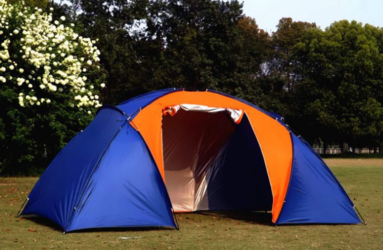 Cw Deux Chambres Et Une Salle De Séjour Manuellement Tente De Camping 4 Personnes Imperméable Tente De Camping Anti-Moustique Tourisme