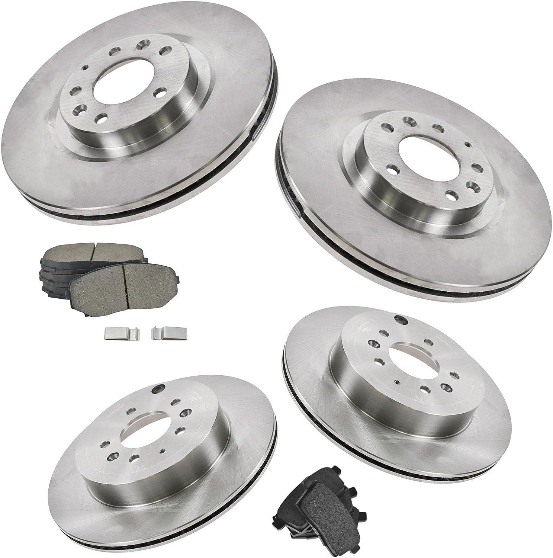 Nakamoto Front /& Rear Posi Semi Metallic Brake Pad /& Rotor Kit for Mitsubishi